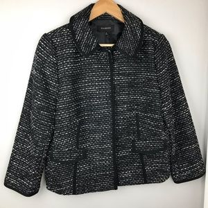 Talbots Black Tweed three quarter sleeve Blazer